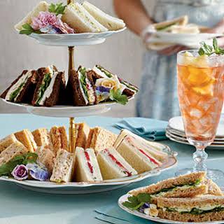 Ham Salad Tea Sandwiches.