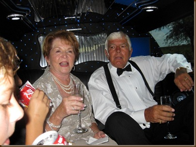 Saturday Shirley and Willie in the limo