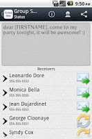 Screenshot of Group SMS