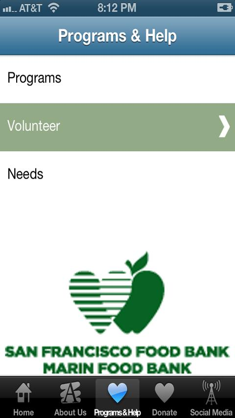 San Francisco Food Bank- screenshot
