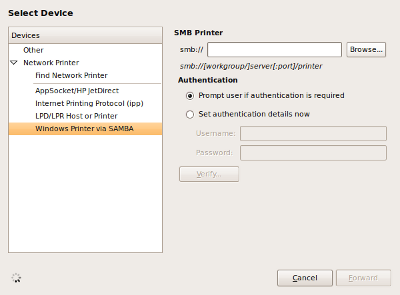 Screenshot New%20Printer Menginstall Printer di Ubuntu Melalui Jaringan LAN