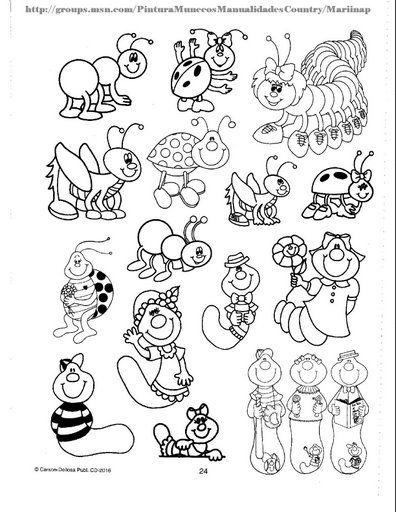 Dibujos De Insectos Y Gusanos Para Colorear