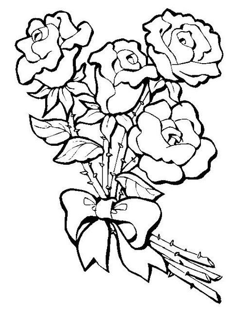 Colorear Rosas Dibujos Para Colorear De Rosas