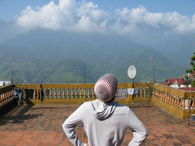Georgie takes in the views from Sapa, Vietnam