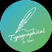 Typographical Zooper Theme