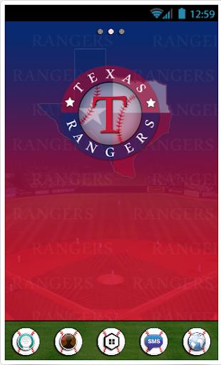 Texas Rangers GoLauncher Theme