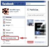 Marcadores de Aplicaciones en Facebook