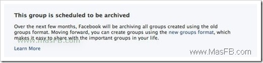 This group is scheduled to be archived Facebook