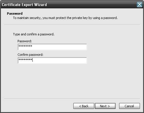 Enterprise password