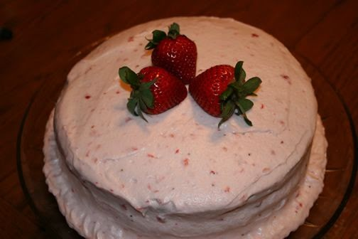 strawberry cake icing what s for dinner three layer strawberry cake with 7734