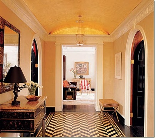 herringbone foyer paint