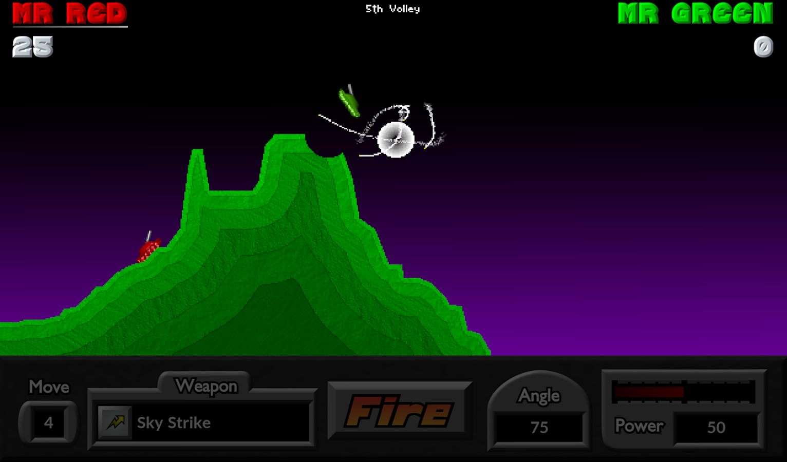 Pocket Tanks- screenshot