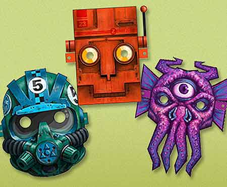 Space Invaders Halloween Masks papercraft