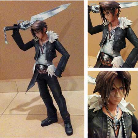 Squall Leonhart Papercraft