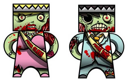 Zombie Prom Papercraft