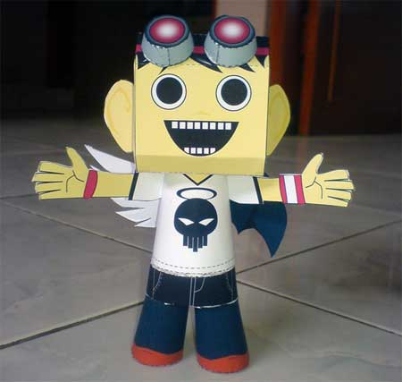 Angel Demon Boy Papercraft