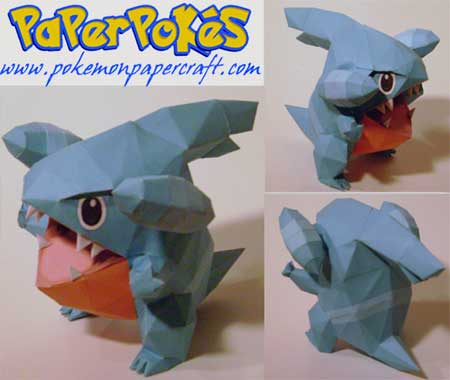 Pokemon Gible Papercraft