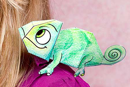 Disney Tangled - Pascal the Chameleon Papercraft