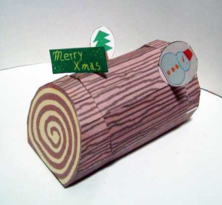 Yule Log Papercraft