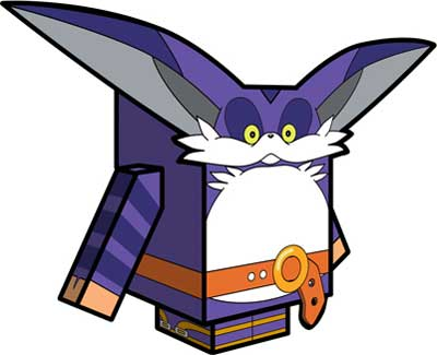 Sonic X Big the Cat Papercraft