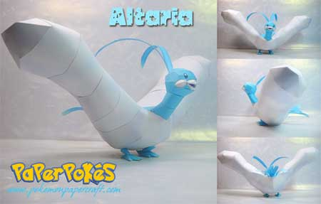 Pokemon Altaria Papercraft