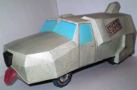 Mutt Cutts Sheepdog Car Papercraft