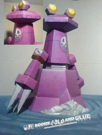 Mega Man Legends Balkon Gerat Papercraft