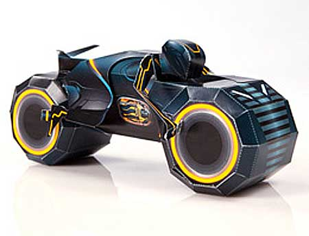 Tron Legacy Clu Light Cycle Papercraft