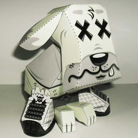 Street Dog Paper Toy Drunk