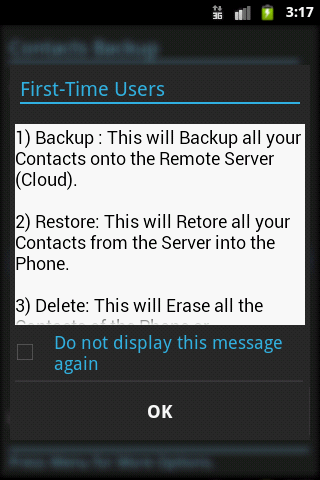 Contacts Backup - screenshot