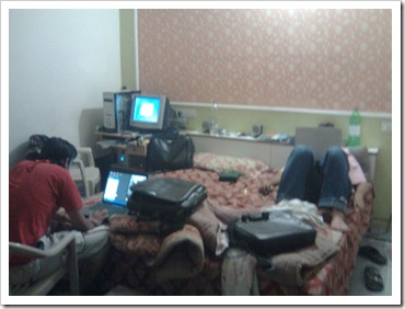 Team PROHACK,at my room,constantly striving to mess with PC's