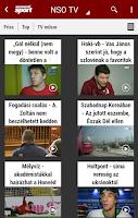 Screenshot of NSO: hírek és eredmények