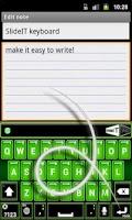 Screenshot of SlideIT Green Neon Skin