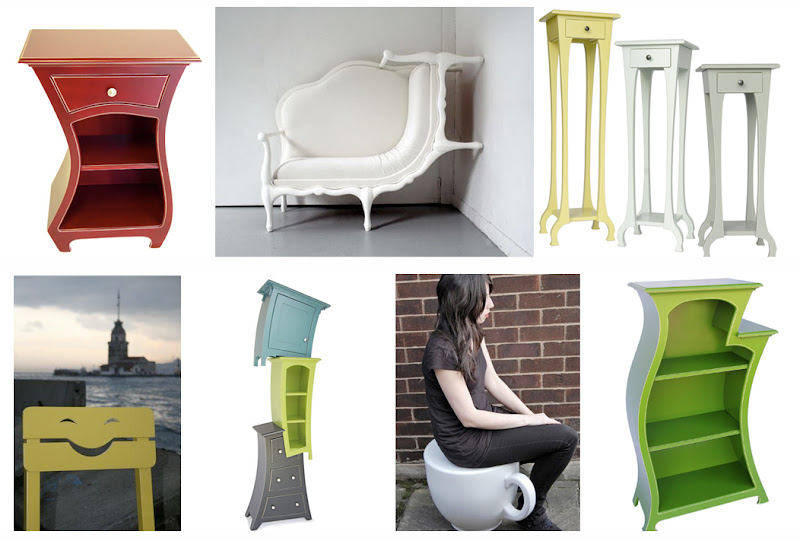 Clockwise Starting At Top Left Red Side Table From Dust Furniture Alice In Wonderland Sofa Tall Tables Bookshelf Teacup Stool Stacked Storage