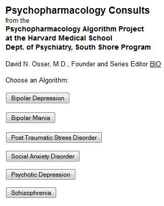 Psychopharmacology Consults