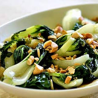 Baby Bok Choy with Cashews.