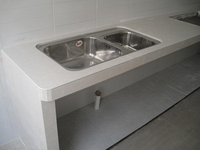 Hy Me Concrete Table Top For Kitchen Dapur Bahagian Sinki