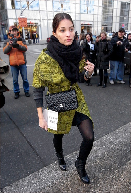 w chanel bag green print wrap 2