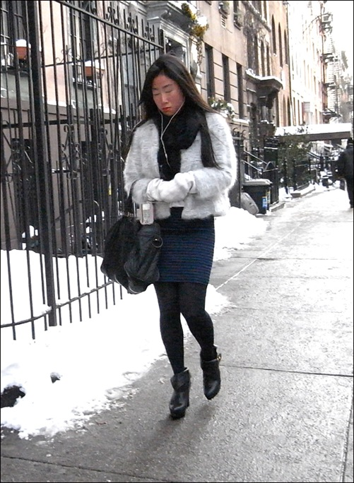 w short fur and ankle boots