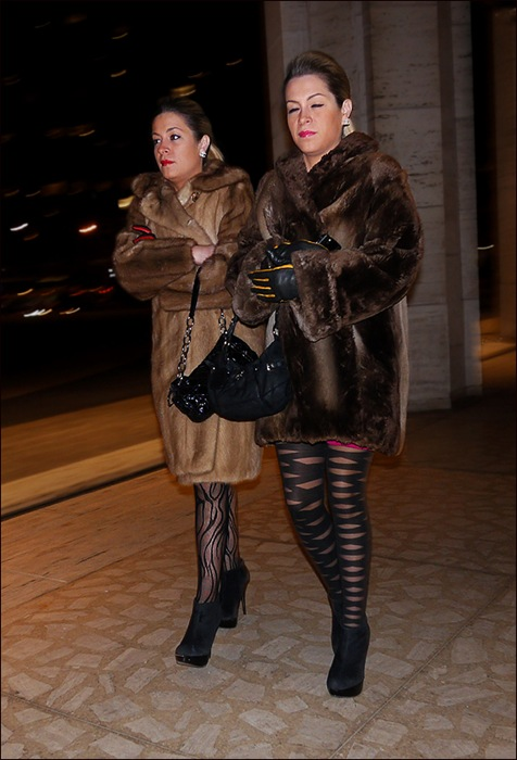 w 2 patterned stockings furs