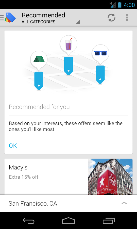 Google Offers - screenshot