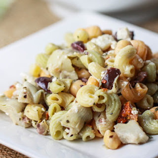 Greek Chickpea Pasta Salad