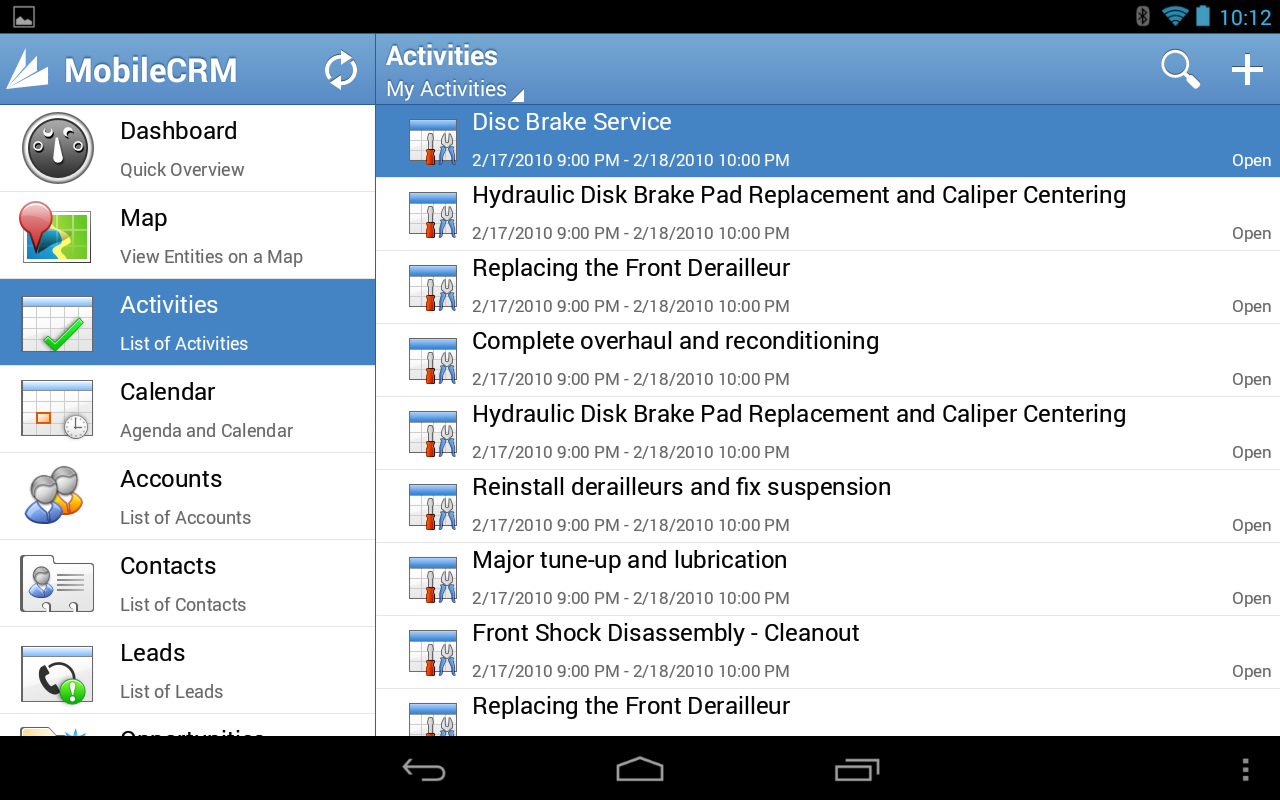 Resco Mobile CRM for Dynamics - screenshot