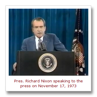 Image result for president nixon says i'm not a crook