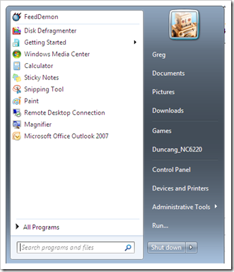 A story of Windows 7 and an empty All Programs (and how I