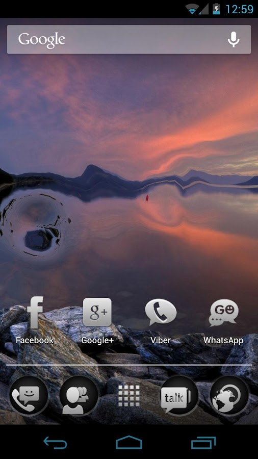 Waterize Lite Live Wallpaper - screenshot