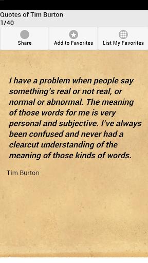 Quotes of Tim Burton