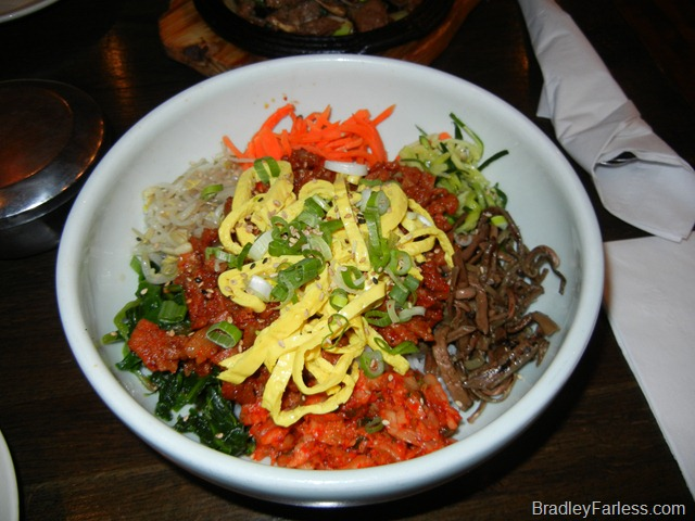 Pork bibimbap from Boka: Bon Chon on St. Mark's