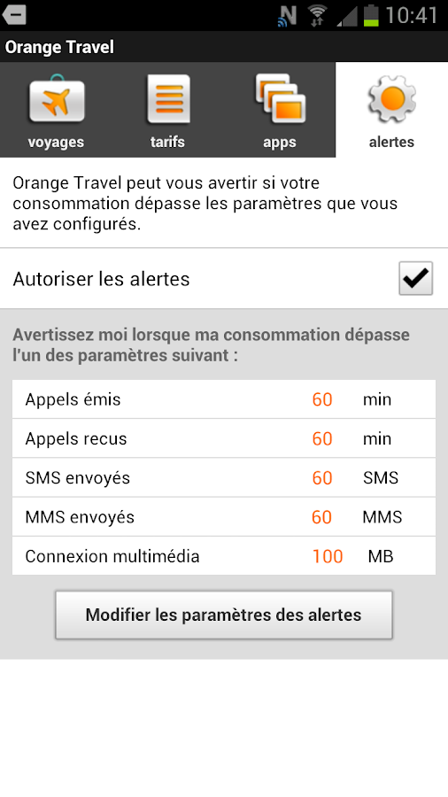 orange travel- screenshot