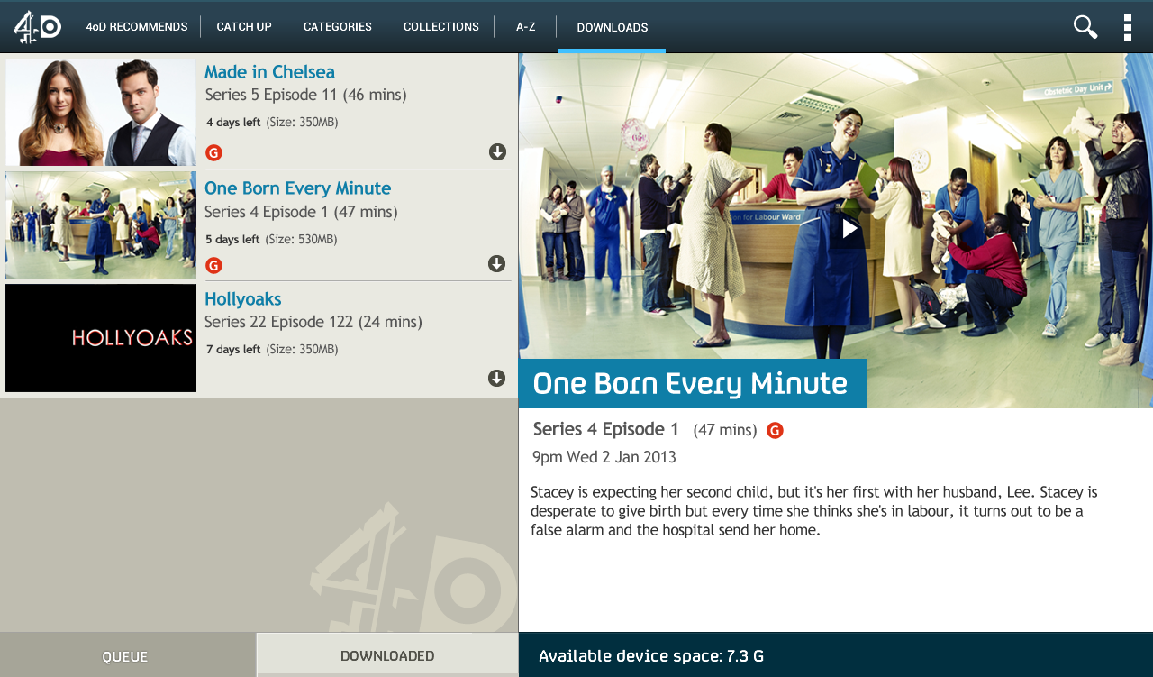 4oD - screenshot